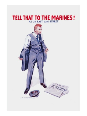 Marine recruitment poster U.S.