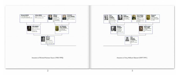 Eason Family Photo Book pp2-3 family tee charts
