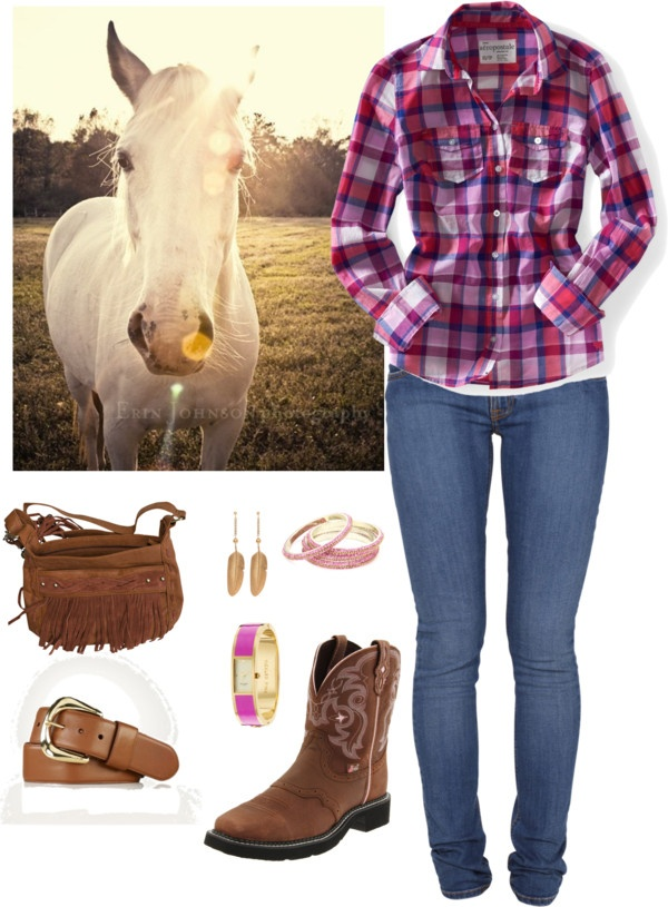 """""""Cowgirl Outfit #2"""" by maria-garza on Polyvore"""