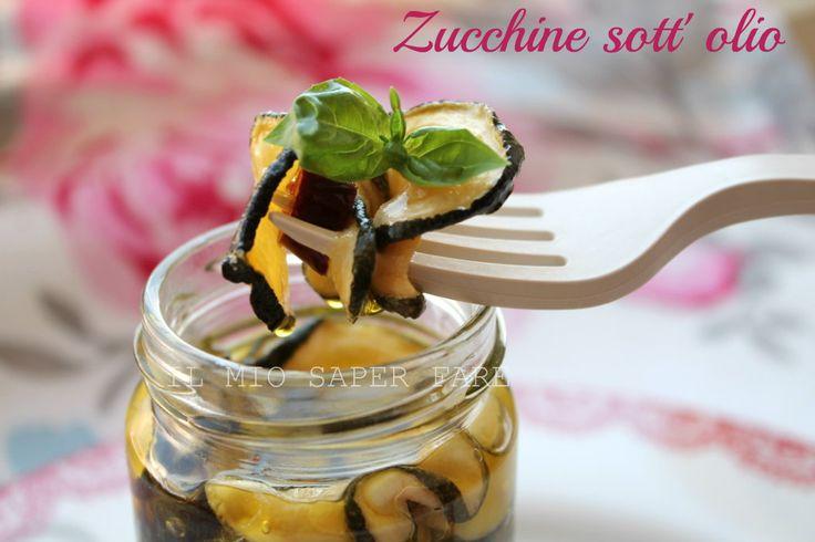 Zucchine essiccate al sole sott'olio