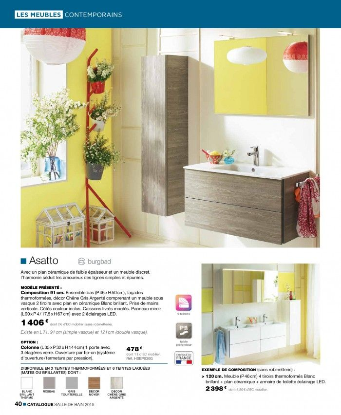 Oltre 25 fantastiche idee su cedeo salle de bain su for Catalogue salle de bain pdf
