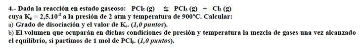 Ejercicio 4,P2, JUNIO 2002-2003. Reserva. Examen PAU de Química de Canarias. Tema: equilibrio.