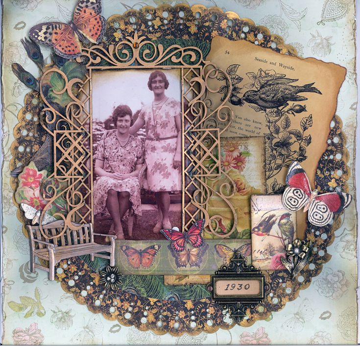 A Day In The Garden ~ 1930 - Scraps of Darkness Kit - Scrapbook.com