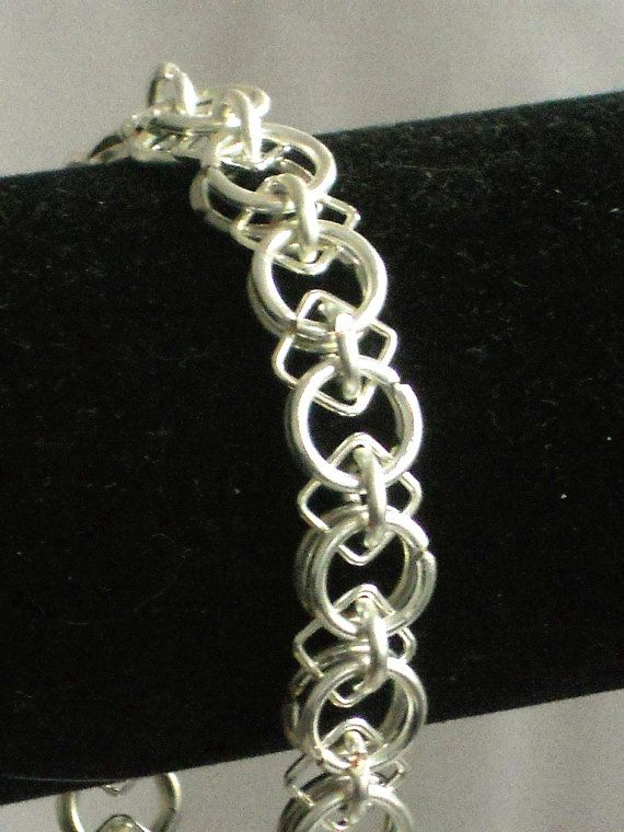 Circles and Squares Chainmaille Bracelet