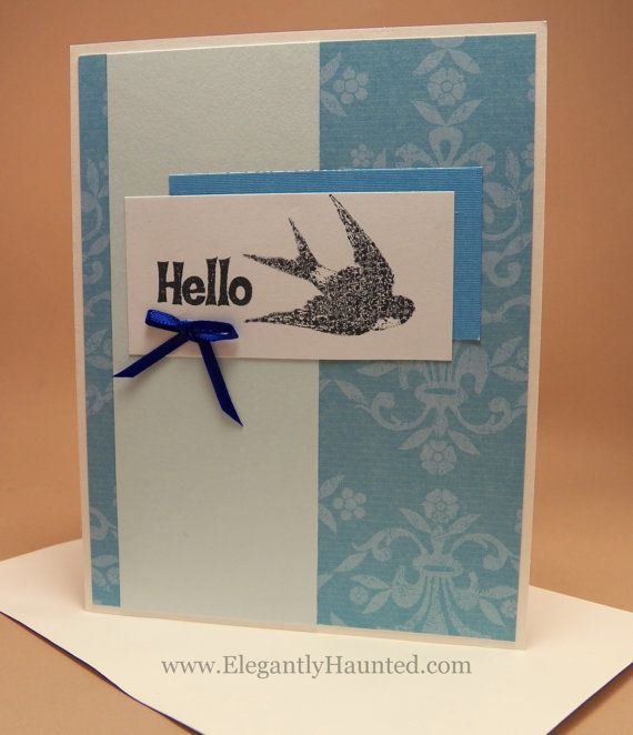 45 best elegantly haunted handmade greeting cards images on vintage style blue floral with bird handmade greeting card vintage style greeting card blank m4hsunfo