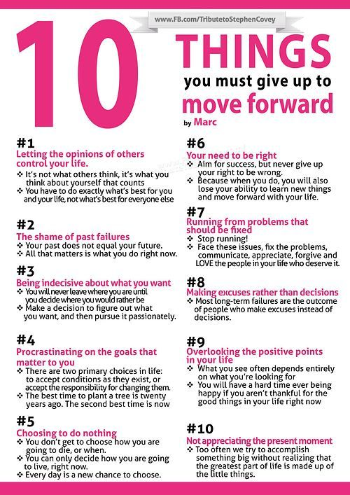 10 Thing You Must Give Up to Move Forward by Stephen Covey.