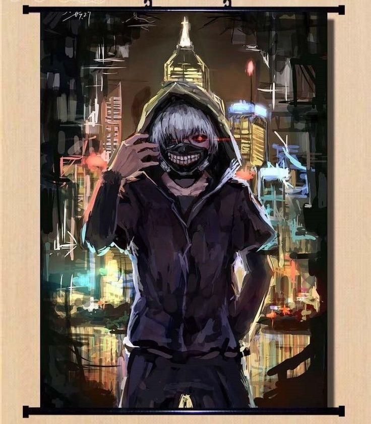 Details about Hot Japan Anime Cosplay Tokyo Ghoul Ken Home Decor Wall Scroll 21*30CM 011