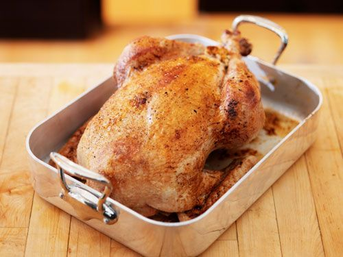 Alton Brown's Roast Turkey - I've been using this recipe (or a version of it) for years. I've never had a dry turkey. Ever. I use bouillon cubes instead of veggie broth and ground spices if I don't have fresh ones.