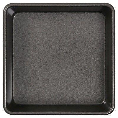 Wilton Ultra Bake Pro 9 Square Cake Pan, Silver, Durable