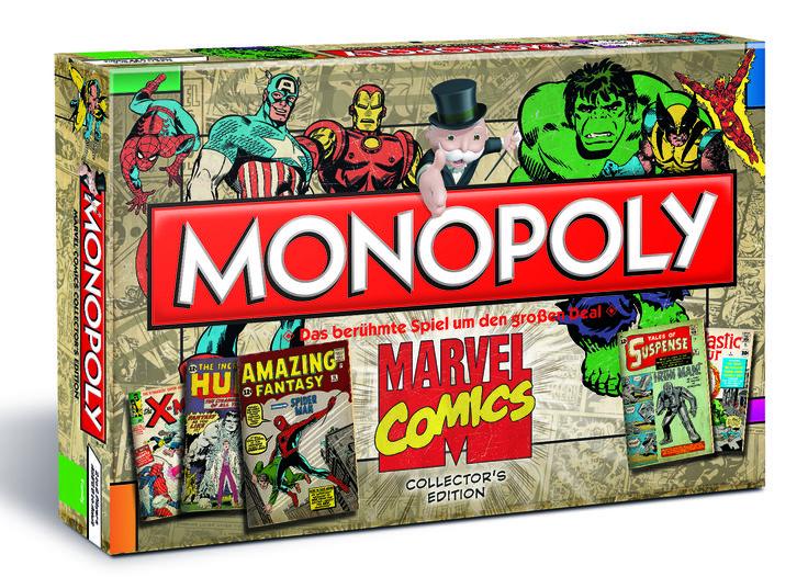Monopoly Marvel Comics Retro Edition - Die Monopoly Marvel Comics Retro Edition möchte den Ursprüngen unserer Comic-Helden ein Denkmal setzen. Alles begann auf Papier, bevor es die Leinwand und nun auch das bekannteste Brettspiel der Welt eroberte! Kaufen Sie Ausgaben, die die größten aller Marvel-Superhelden erstmals vorgestellt haben. Vergrößern Sie Ihre Sammlung an Schätzen aus Papier und archivieren Sie diese mit Schachteln und Tüten, um das meiste aus ihrem Wert heraus zu holen!