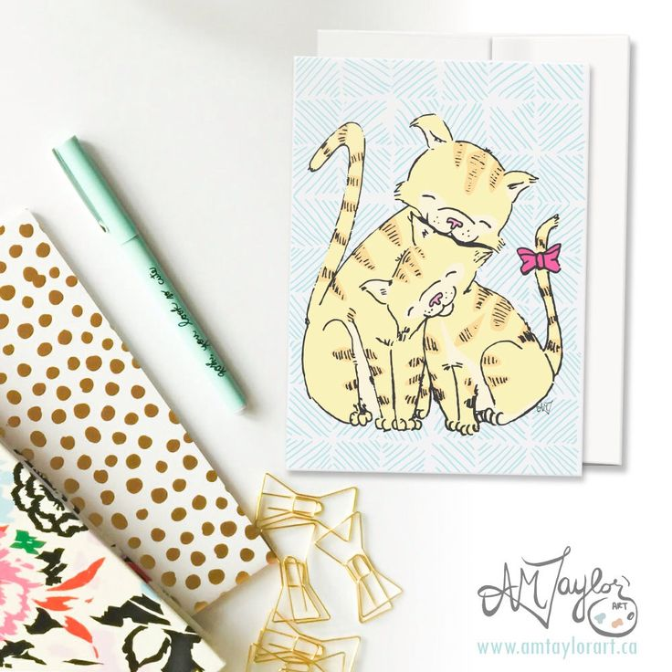 A personal favorite from my Etsy shop https://www.etsy.com/ca/listing/521085367/cat-mothers-day-card-card-for-moms-cute