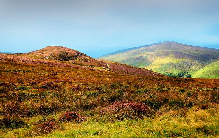 Multicolored Hills Of Wicklow I. Ireland by Jenny Rainbow.  , This  artwork available as framed, metal, acrylic prints, in art products for home decor and greeting cards  #JennyRainbowFineArtPhotography  #Ireland #Wicklow #Hills #FineArtLandscape #Autumn #WicklowMountains
