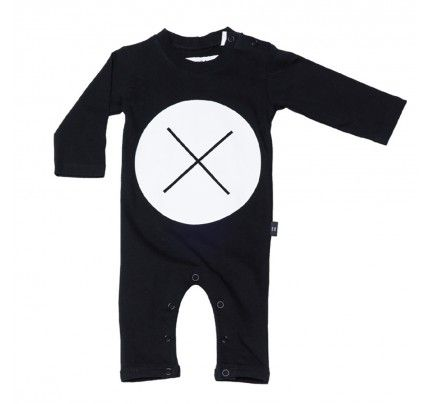 Circle Cross Long Sleeve Romper from Huxbaby's AW16 collection from Baby Dino.  www.babydino.com.au