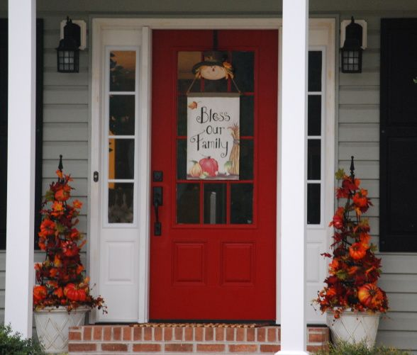 Best Red For Front Door: 15 Best Images About Front Door And Porch On Pinterest