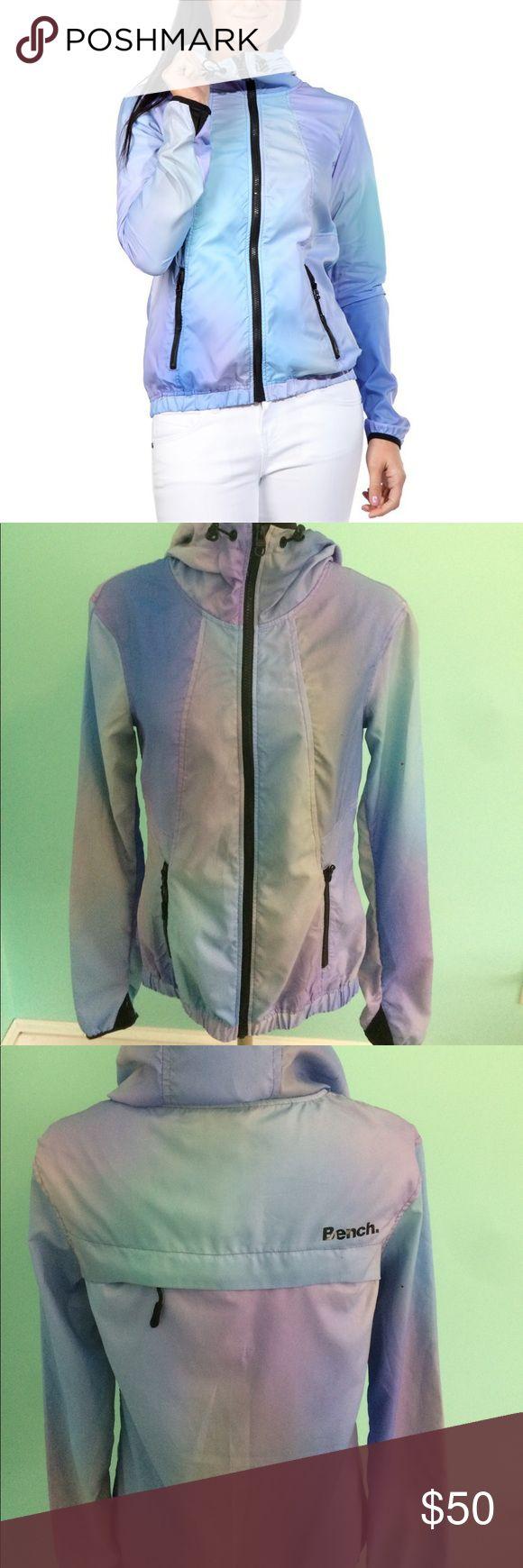NWT- BENCH FANCIFUL B WINDBREAKER Packable light rain jacket, adorable tie dye colors Bench Jackets & Coats