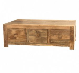 Light mango wood coffee table with 6 drawers from Scape Interiors West