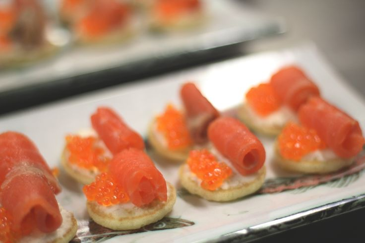Smocked Salmon snacks