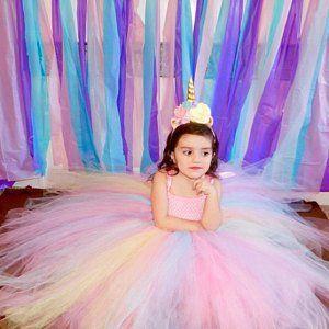 einhorn tutu kleid rosa geburtstagskleid rosa blumenmaedchen