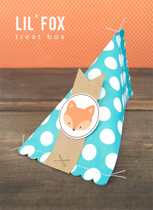 Use your Silhouette to create your own fall themed treat boxes! {how cute is that little fox?!}