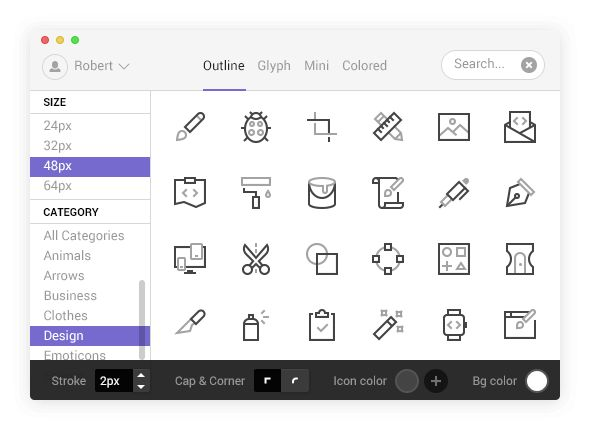 Nucleo is a library of 8387 icons with super powers.