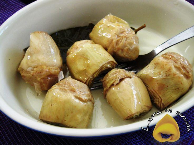 Carciofini sott'olio,ricetta homemade