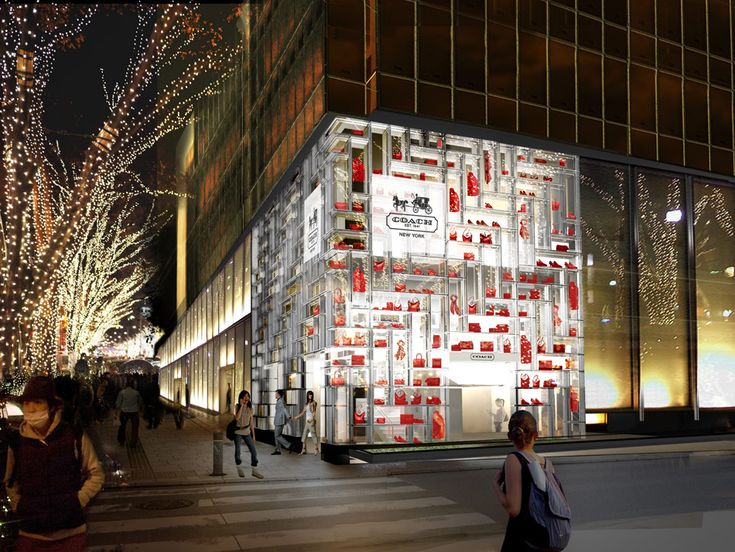 OMA: coach flagship store opens in tokyo