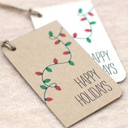 This looks easy enough to draw...DIY gift tags?