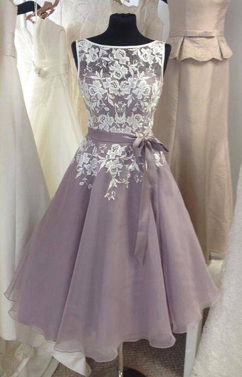 Tea Length Bridesmaid Dresses 1950 S Short High Neck Fs048 Pinterest