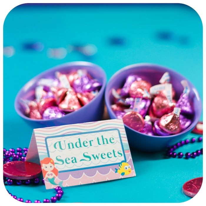 Under the Sea Sweets from a Sweet Little Mermaid Birthday Party on Kara's Party Ideas | KarasPartyIdeas.com (10)