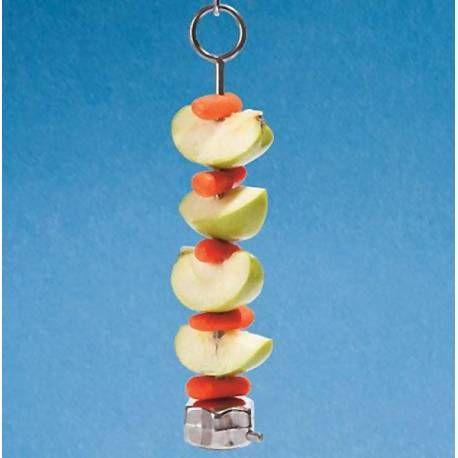Fruitspeer RVS voor Papegaaien
