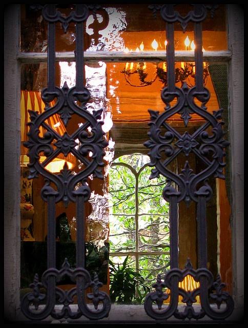Window at The Mercer House - Savannah GA