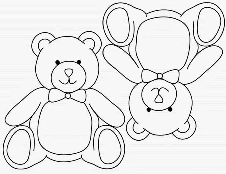 Best Photos Of Teddy Bear Stencils Printable