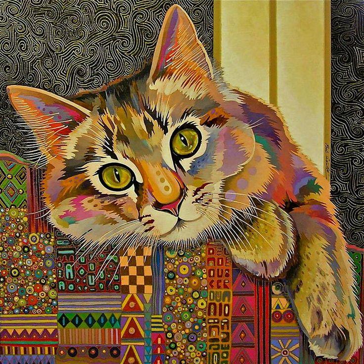 коты декоративные картины месте