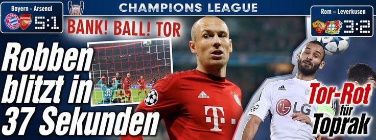 #ChampionsLeague Nov 4: #Leverkusen http://sportdaten.bild.de/sportdaten/u  http://www.bild.de/sport/fussball/champions-league/tor-rot-fuer-toprak-43274920.bild.html #FCBayern http://www.bild.de/sport/fussball/bayern-muenchen/robben-blitzt-in-37-sekunden-43274176.bild.html