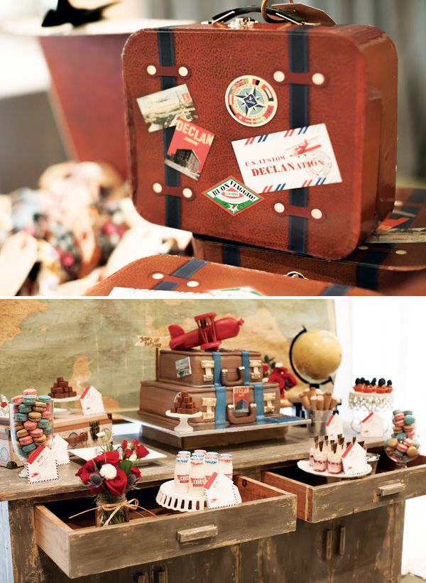 {Around the World} Vintage Airplane First Birthday Party