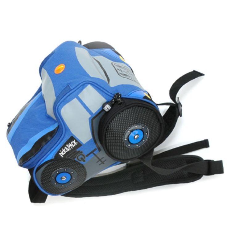 Pick Pack Fun Kinder Rugzak Blue Tractor