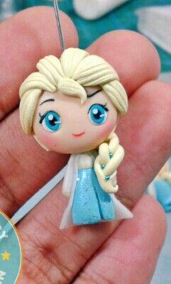 Polymer clay Elsa by fern