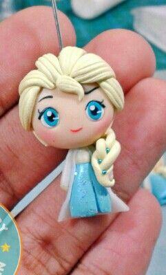Polymer clay Elsa by fern