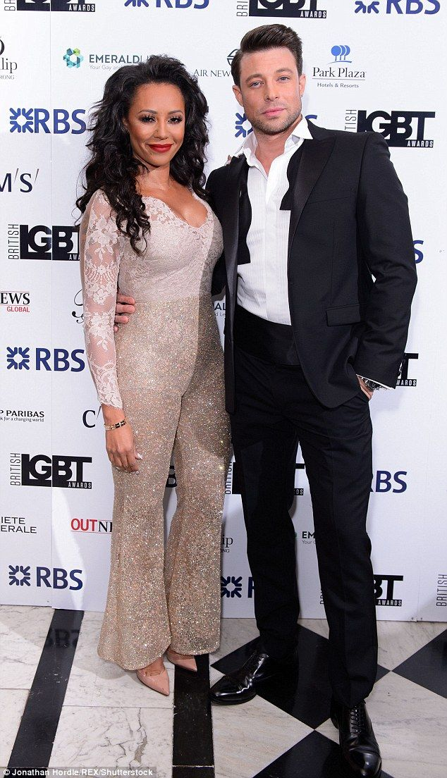 Joining forces: Mel was joined by her fellow host for the evening, Blue's Duncan James...