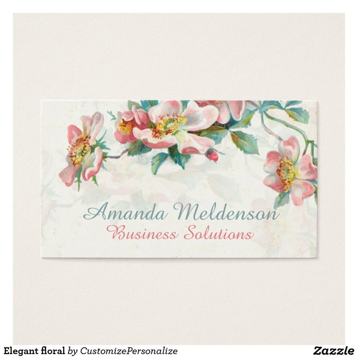 15 best Personalized trendy floral business cards images on ...