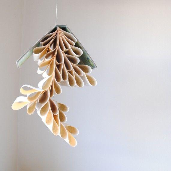 book chandelier