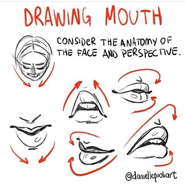 Reposting one of my Quick Tip Mondays in between seasons!  *Quick Tip Monday - The elements of the face must respect the anatomy and perspective of the head. In this case, the mouth. Since I drew a whole lot of mouth this past week  Check out the whole challenge: behance.net/daniellepioli