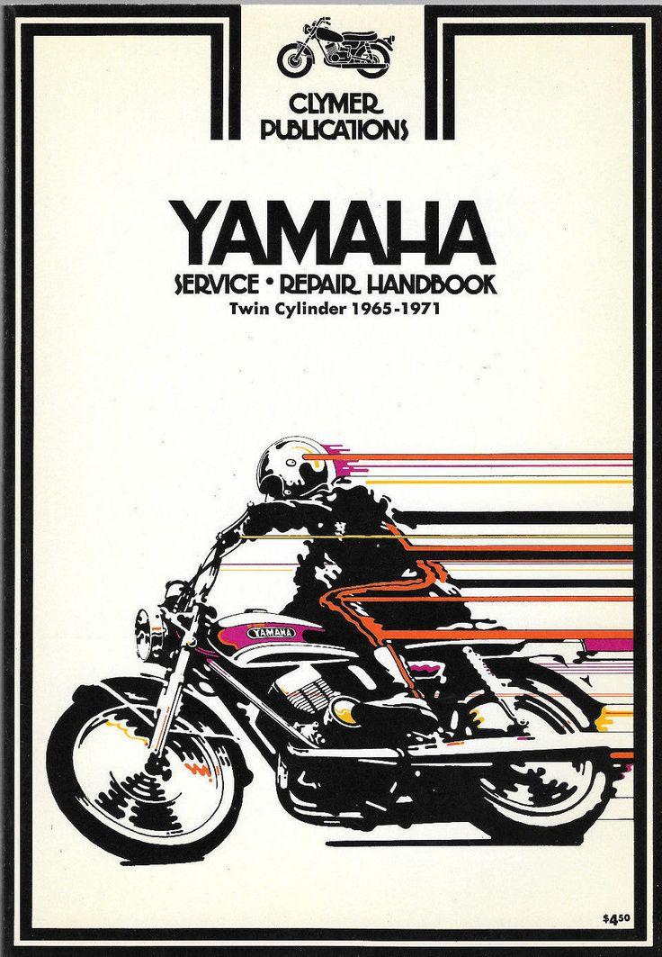Yamaha Dirt Bike Service & Repair Handbook Twin Cylinder 90cc - 350cc 1965-1971 by ShopDadsCollection on Etsy