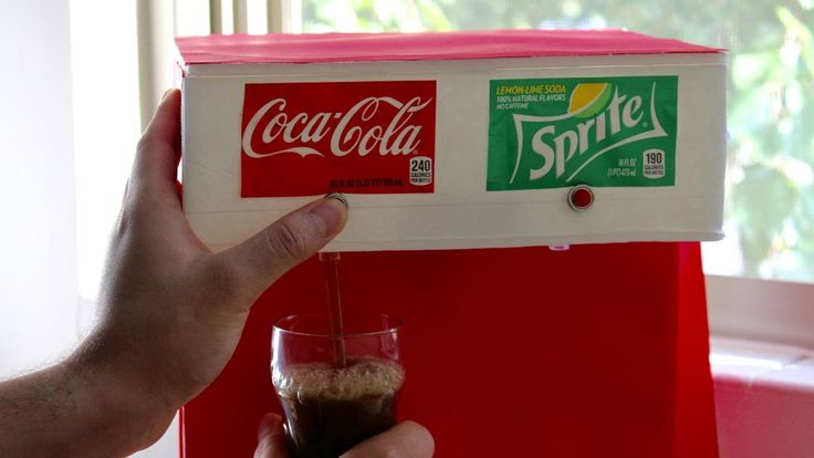 How to Make Soda Fountain Machine at Home, add lemonade and punch stored in containers in a plug in cooler