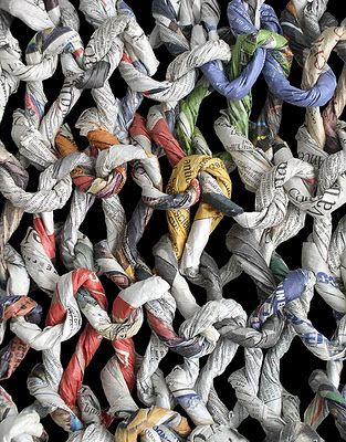 CuriousDoodles: Ivano Vitali: Knitted Paper Art