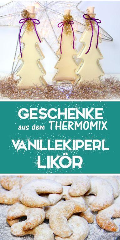 Vanillekipferl Likör – Ein köstlicher Weihnachtslikör. Thermomix Rezept.