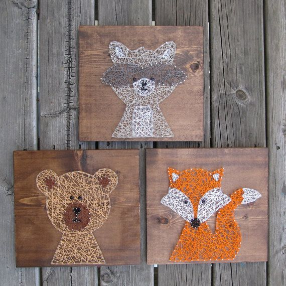 Made to Order String Art Sign Bear String Art by BlossomingBurlap