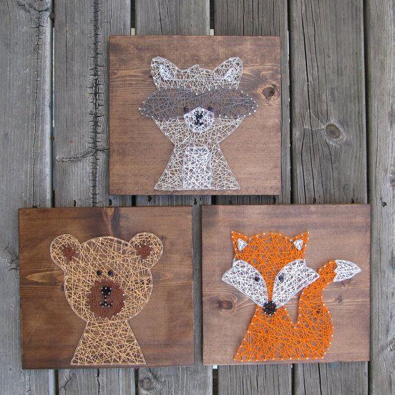 Made to Order String Art Sign Bear String Art by BlossomingBurlap