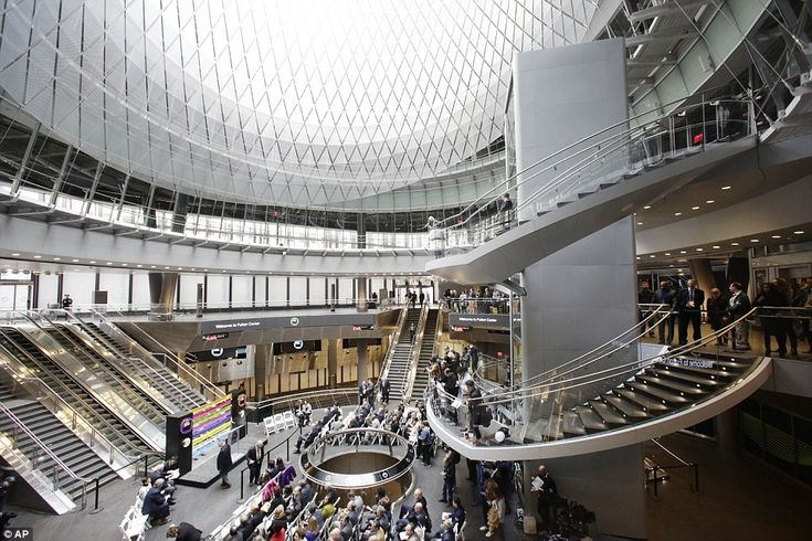 The Metropolitan Transportation Authority is inaugurating the $1.4 billion Fulton Center, a transit complex where nine subway lines converge that will be used by 300,000 commuters every day