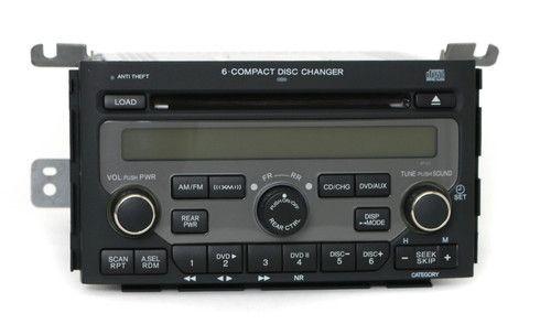 2006-2008 Honda Pilot AM FM Radio 6 Disc CD Player Part Number - 39100-STW-A400